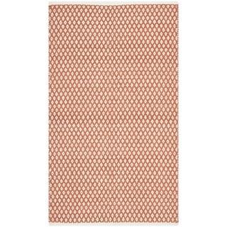 Safavieh Hand-loomed Moroccan Orange Cotton Rug (8' x 10')
