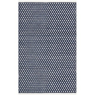 Hand-loomed Moroccan Navy Cotton Rug (5'x 8')