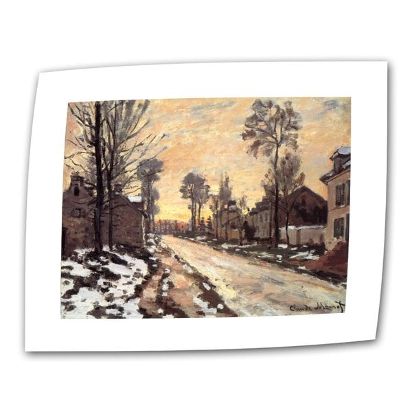 Claude Monet 'Snowy Country Road' Canvas Art