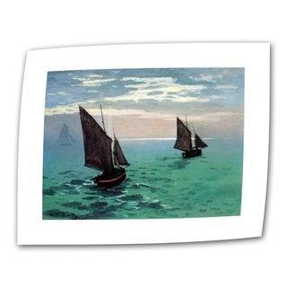 Claude Monet 'Two Sailboats' Flat Canvas