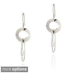 Mondevio Sterling Silver Circle Dangle Earrings