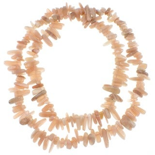Pearlz Ocean Peach Moonstone Endless Chip Necklace