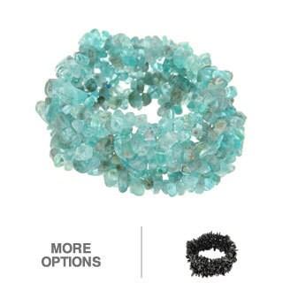 Pearlz Ocean Blue Apatite Chip Stretch Bracelet