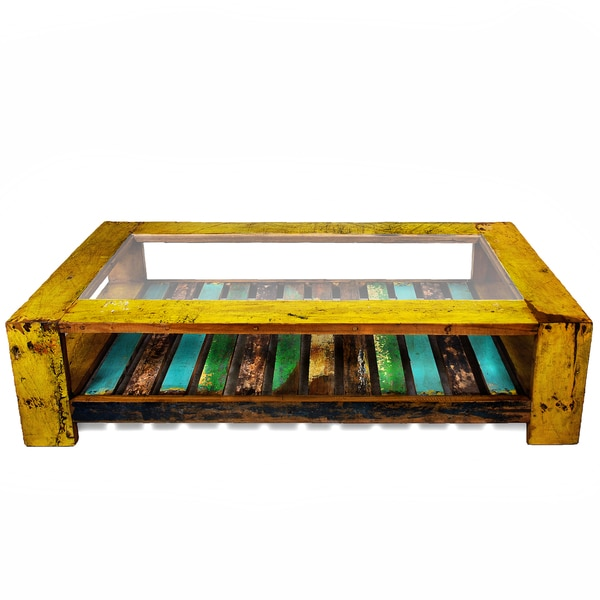 Ecologica Oversized Reclaimed Wood Coffee Table