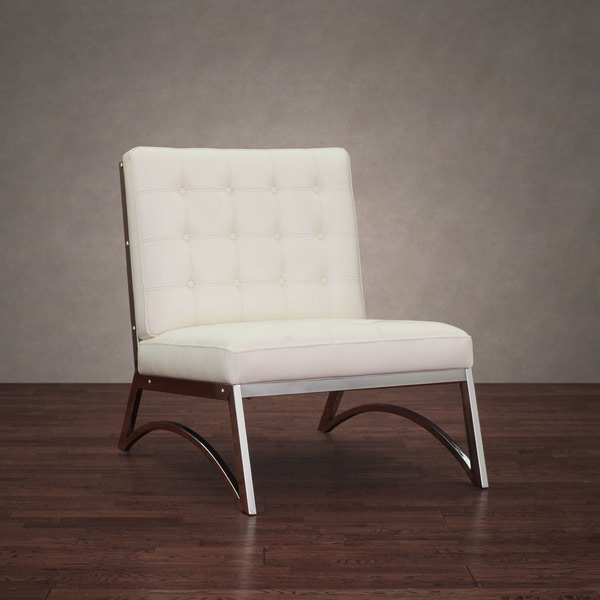 Madrid Modern White Leather Chair