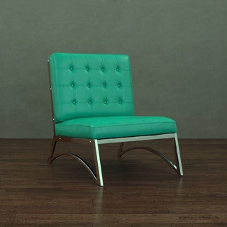 Madrid Modern Emerald Green Leather Chair