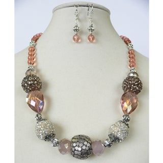 'Peach Melba' Necklace and Earring Set