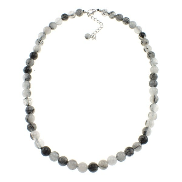 Pearlz Ocean Black Rutilated Quartz Necklace