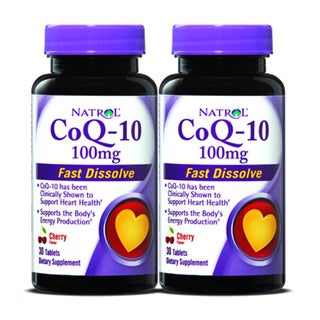 Natrol CoQ-10 100mg Fast Dissolve (60 Tablets) (Pack of 2)
