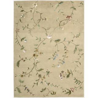 Hand-tufted Modern Elegance Floral Beige Rug (3'6 x 5'6)