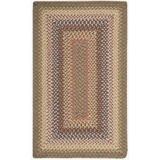 Hand-woven Craftworks Braided Autumn Multicolor Rug (7'6 x 9'6)