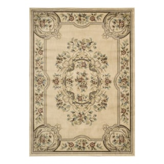 Aubusson Collection Ivory Rug (3'3 x 5'3)