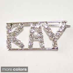 'K Collection' Crystal Name Pin