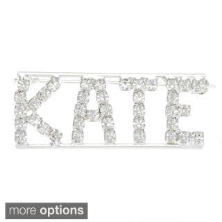 Detti Originals SilverPind 'K Collection' Crystal Name Pin