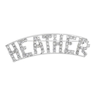 'H Collection' Crystal Name Pin