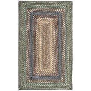 Hand-woven Craftworks Braided Sage Multicolor Rug (7'6 x 9'6)