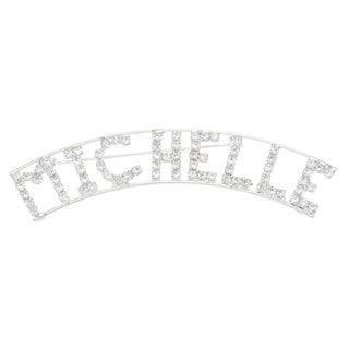 M Collection' Crystal Name Pin