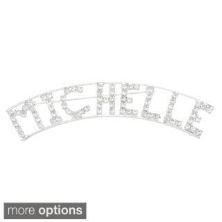 Detti Originals SilverPind 'M Collection' Crystal Name Pin