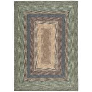 Hand-woven Craftworks Braided Sage Multicolor Rug (5' x 7')