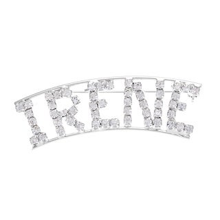 "Detti Originals 'I Collection"" Crystal Name Pin"
