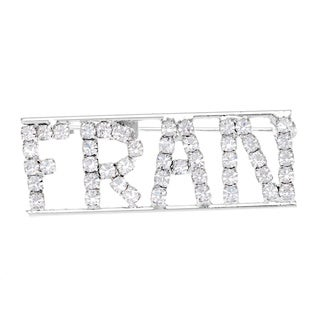 'Fran' Crystal Name Pin