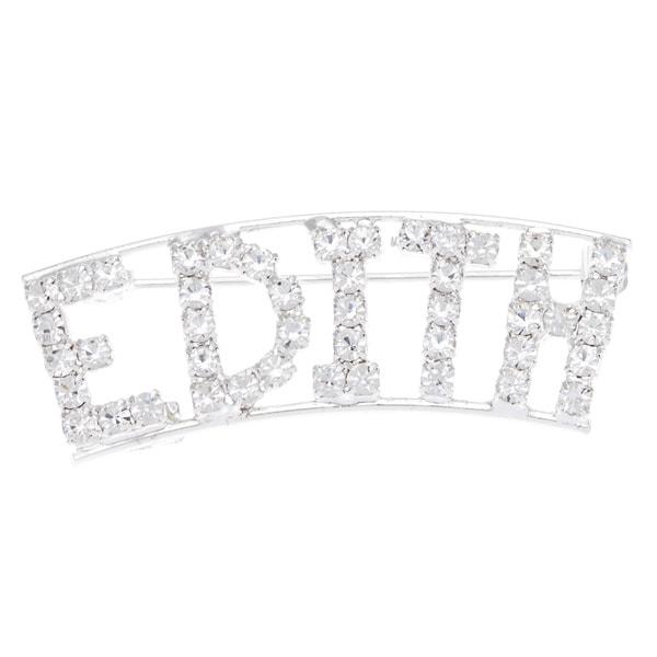 Detti Originals SilverPind 'EDITH' Crystal Name Pin