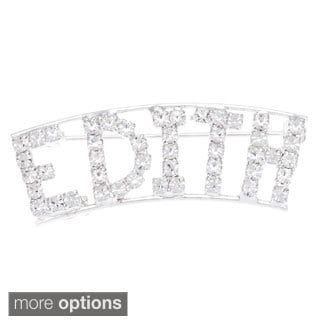 'E Collection' Crystal Name Pin