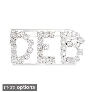Detti Originals SilverPind 'D Collection' Crystal Name Pin