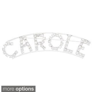 Detti Originals SilverPind 'CAROLE' Crystal Name Pin