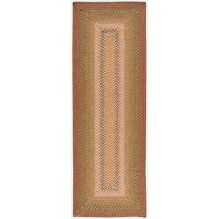 Hand-woven Craftworks Braided Sunset Multicolor Runner Rug (2'3 x 7')