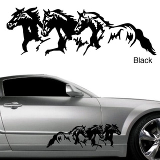 Horse Trio Vinyl Vehicle Graphic Decal Set