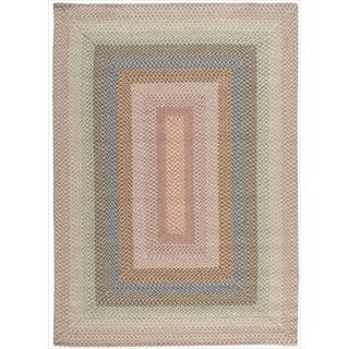 Hand-Woven Craftworks Braided Coral Multicolor Rug (5' x 7')
