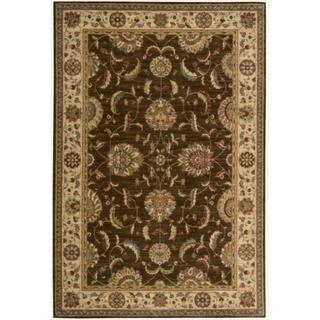 Living Treasures Brown Wool Rug (2'6 x 4'3)