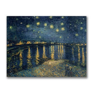 Vincent Van Gogh 'The Starry Night' Canvas Art