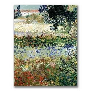 Vincent Van Gogh 'Garden in Bloom' Canvas Art