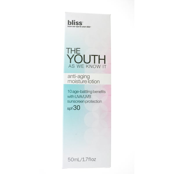Bliss The Youth As We Know It Anti-aging Moisture Lotion