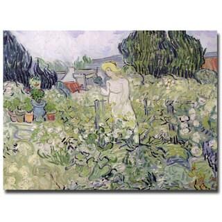 Vincent van Gogh 'Mademoiselle Gachet at Auvers-sur-Oise' Canvas Art
