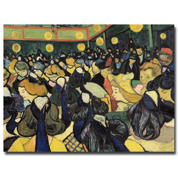 Vincent van Gogh 'The Dance Hall at Arles 1888' Canvas Art