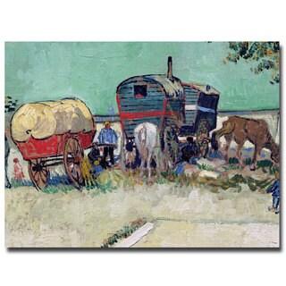 Vincent van Gogh, 'Gypsy Encampment, Arles, 1888' Canvas Art