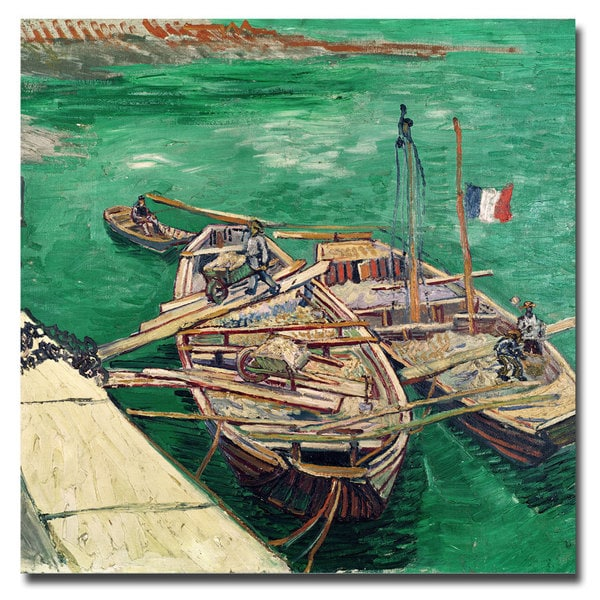 Vincent van Gogh 'Landing Stage with Boats 1888' Canvas Art