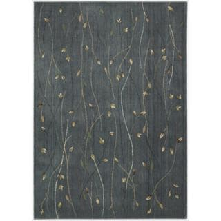 Cambridge Budding Vine Blue Rug (5'3 x 7'4)