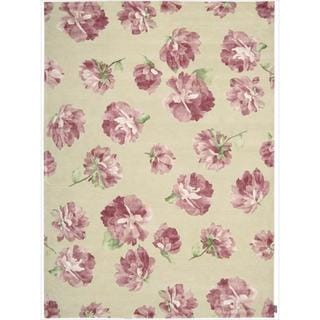 Hand-tufted Modern Elegance Rose Wool Rug (8' x 11')