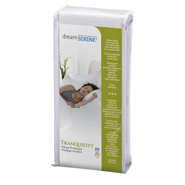 DreamSerene Tranquility Waterproof Pillow Protector with Zipper