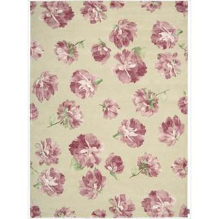 Hand-tufted Modern Elegance Rose Wool Rug (9'6 x 13'6)