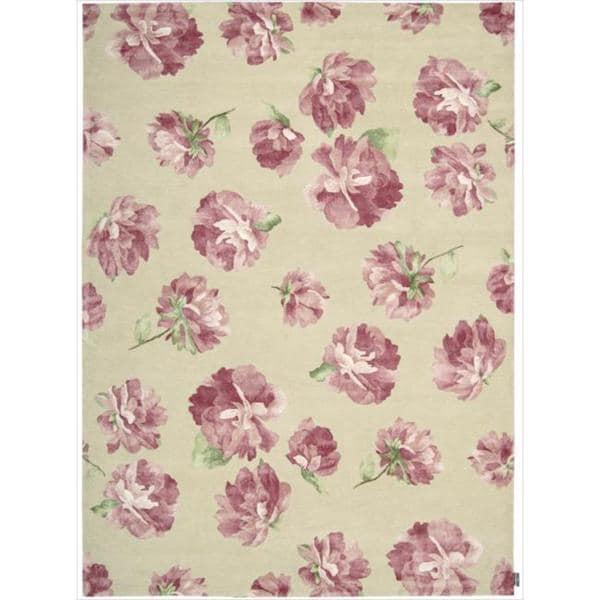 Hand-tufted Modern Elegance Rose Wool Rug (9'6 x 13'6)