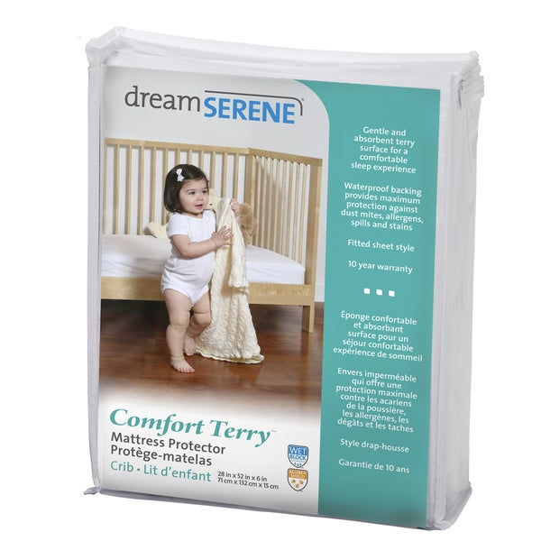 DreamSerene Comfort Terry 220 Waterproof Mattress Protector