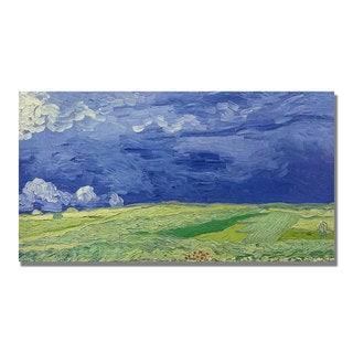 Vincent Van Gogh 'Wheatfields Under Thundercloud' Canvas Art