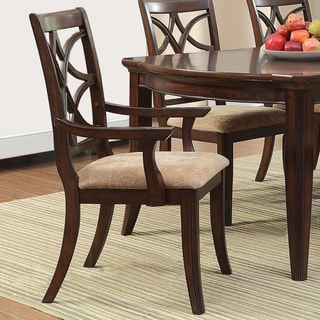 Cheshire Espresso/ Peat Arm Dining Chair (Set of 2)
