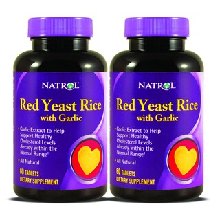 Natrol Red Yeast Rice with Garlic (120 Tablets) (Pack of 2)