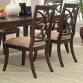 ETHAN HOME Cheshire Rich Espresso Traditional Dining Chair (Set of 2)